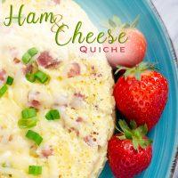 Ham and Cheese Quiche_Breakfast Quiche, Crustless Quiche