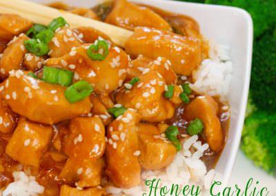 Easy Chinese Take Out Honey Garlic Chicken Recipe