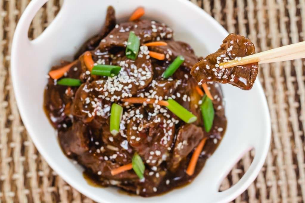 Instant Pot Mongolian Beef in bowl