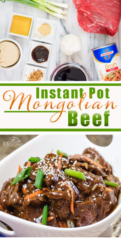 Instant Pot Mongolian Beef easy dinner recipe better than Chinese Take Out #Instantpot #chinesetakeout #mongolianbeef #beefandbroccoli #easyrecipe