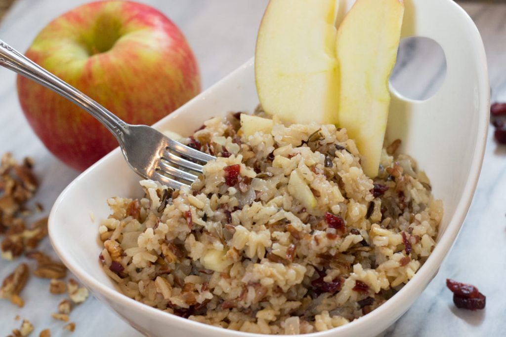 Apple Pecan Wild Rice