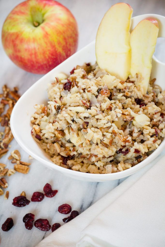 Apple Pecan Cranberry Wild Rice