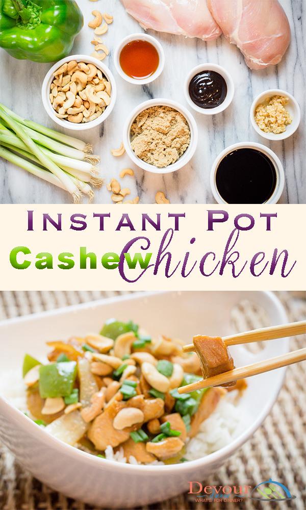 Instant Pot Cashew Chicken Recipe Family Favorite Chinese Take Out #chinese #instantpot #chickenlettucewrap #lettucewrap #cashewchickenlettucewrap #instantpot