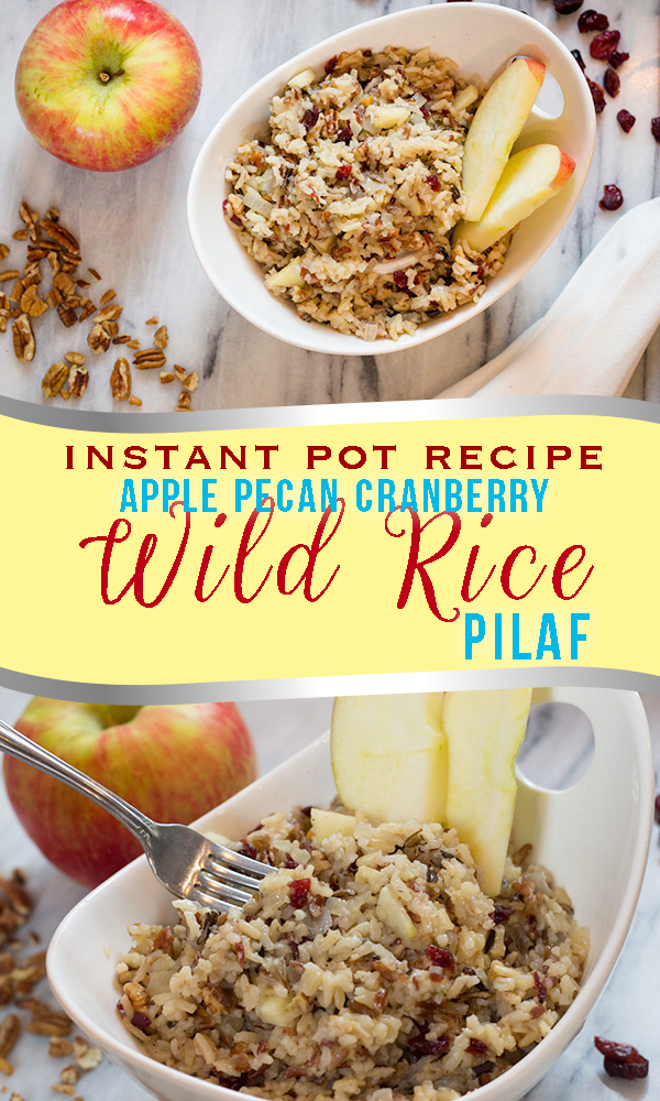 Instant Pot Apple Pecan Cranberry Wild Rice