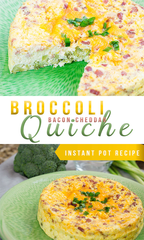 Easy Quiche Recipe, Broccoli Bacon and Cheddar