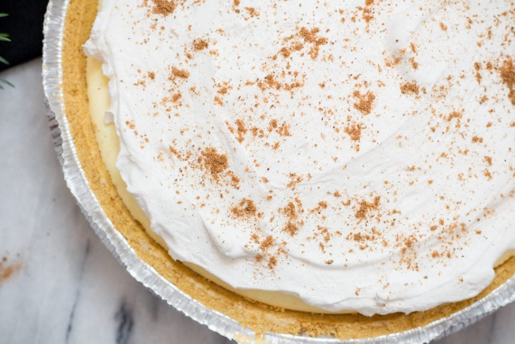 Eggnog Pie, No bake 4 ingredients