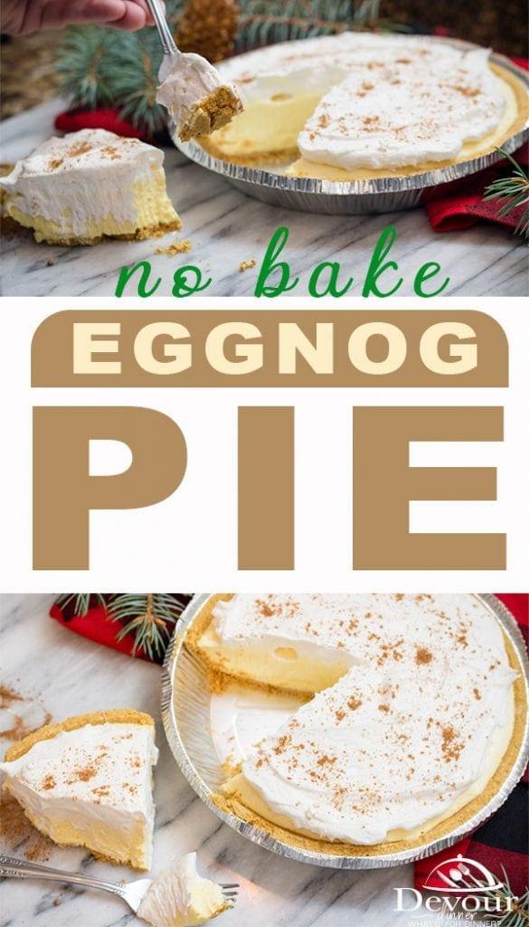 Eggnog Pie #eggnog #Pie #Eggnogpie #nobakepie #freezerpie