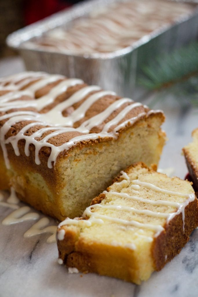 Quick Bread Recipe with Eggnog, cinnamon, and holiday spices