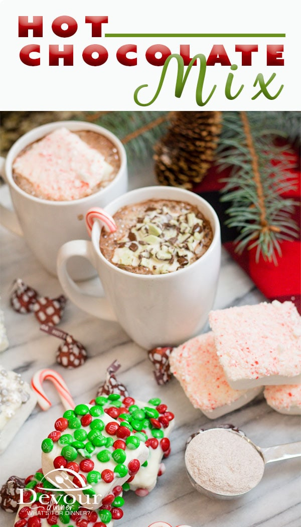 Enjoy a Rich cup of Hot Chocolate with this quick and easy Hot Chocolate Mix you can make. We love to make our own and have been making this recipe for decades. It's creamy and rich and we love it. Also makes great neighbor gifts! #devourdinner #hotchocolate #hotchocolatemix #hotcocoa #hotcocamix #hotdrink #neighborgift #christmasneighborgift #feedfeed #dessertrecipe #easyrecipe #quickandeasyrecipe #yum #feedfeed #instagood #easydessert #easyrecipes #Christmascocoa #recipes #recipe #food