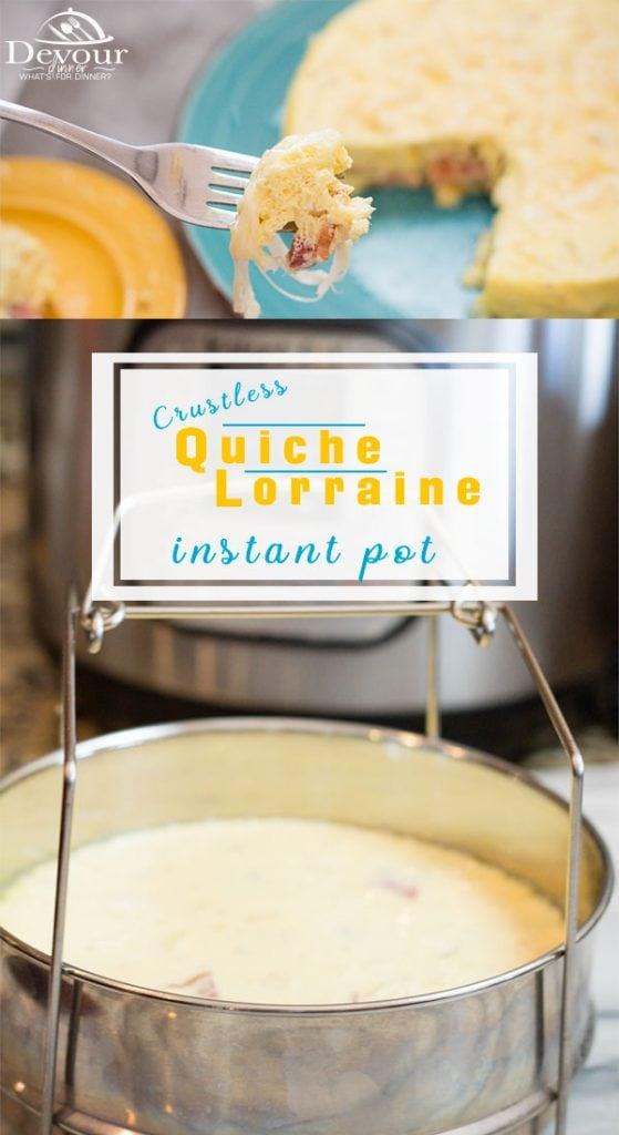 Quiche Lorraine Pinterest #quiche #keto #devourdinner #breakfast #easyrecipe #crustlessquiche