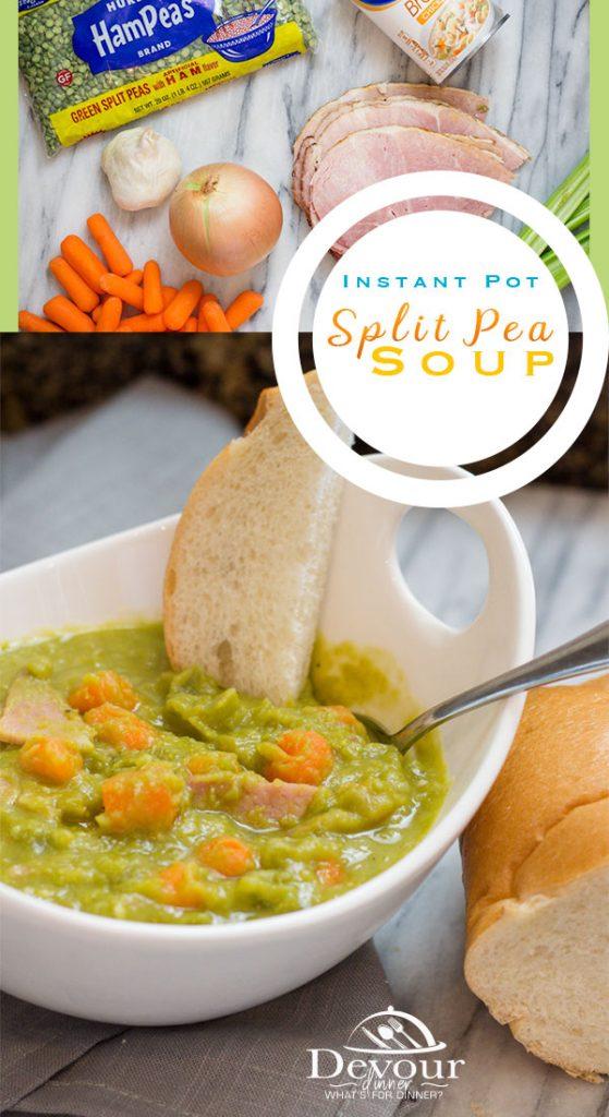 Split Pea Soup Recipe for the Instant Pot Pressure Cooker #splitpeasoup #splitpeasouprecipe