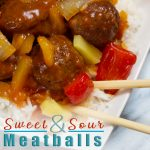 Sweet and Sour Meatballs made easily in the Instant Pot. 5 Minute Recipe, Kid approved