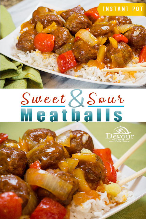 Quick and Easy Sweet and Sour Meatballs made in the Pressure Cooker Instant Pot in 5 minutes. Family Friendly, Kid approved. We love this quick and easy family recipe. #sweetandsour #sweetandsourmeatballs #meatballs #sweetandsourrecipe #sweetandsourmeatballsrecipe #devour #instantpot #instantpotrecipe #instagood #easydinner #easydinnerrecipe #dinnerrecipe #recipe #recipes #food #foodie #chinese #foodblogger #familyapproved #kidfriendly #meatballs #sweetandsourmeatball #yum #easyprep