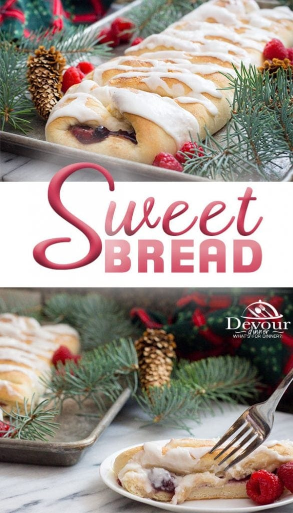 Sweet Bread Recipe with Cream Cheese and Berries_Berries in the Snow_ #sweetbread #Pastry #danishPastry #recipe