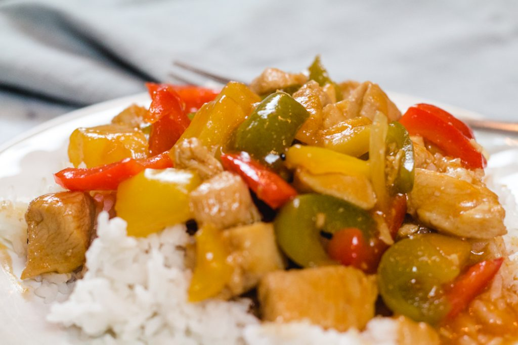 Sweet and Sour Chicken made in the Instant Pot