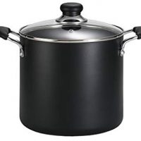 T-fal Soup Pot, Stock Pot, Dishwasher Safe Nonstick Pot, 8 Quart, Charcoal