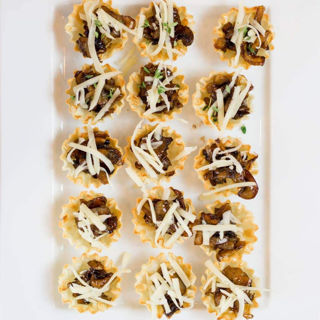 Onion and Mushroom Bites Appetizer