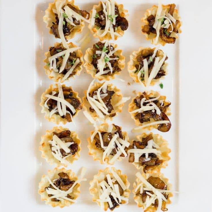 Caramelized Onion and Mushroom Bites