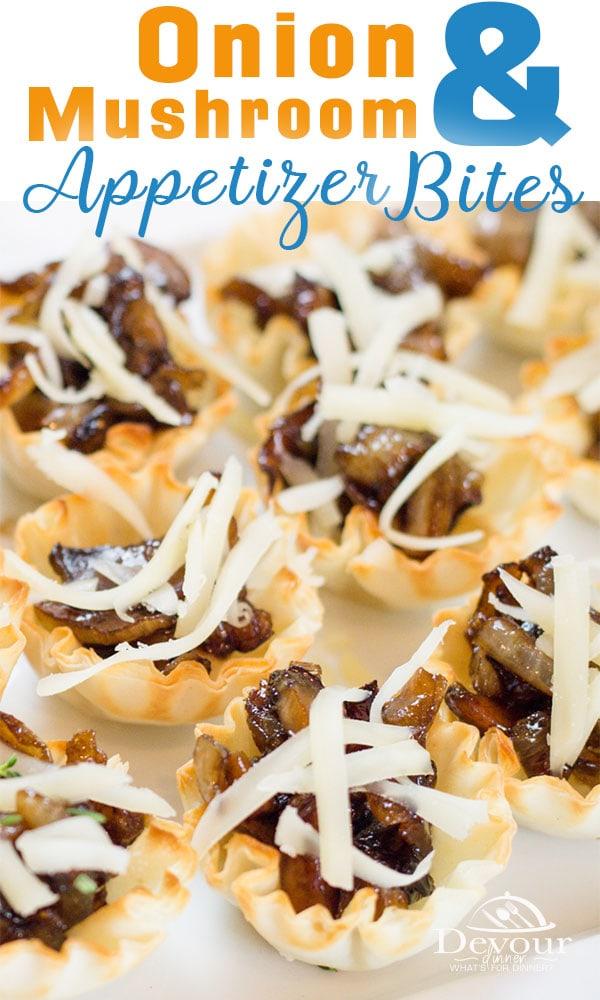 Onion and Mushroom Bites Appetizer #easyrecipe #appetizer #Mushroomandonionbites #phylloshells