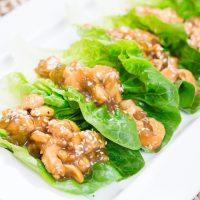 Chicken Lettuce Wrap Appetizer or Lunch Recipe