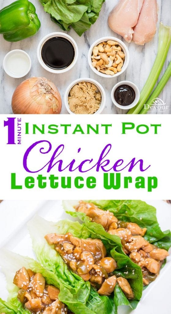 Chicken Lettuce Wrap with Cashews family favorite dinner #cashewchicken #lettucewrap #Chickenlettucewrap #Instantpot