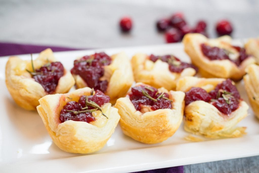 Cranberry Brie Bites Appetizer for your next Party