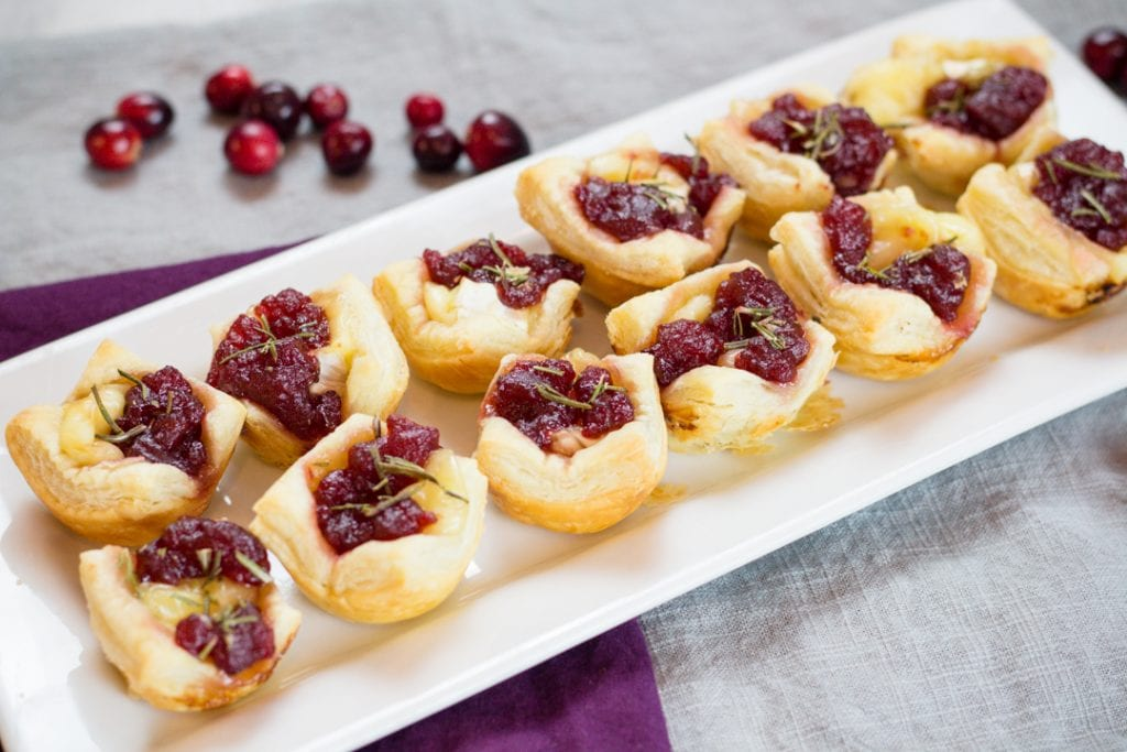 Cranberry Appetizer with Brie Cheese and Puff Pastry
