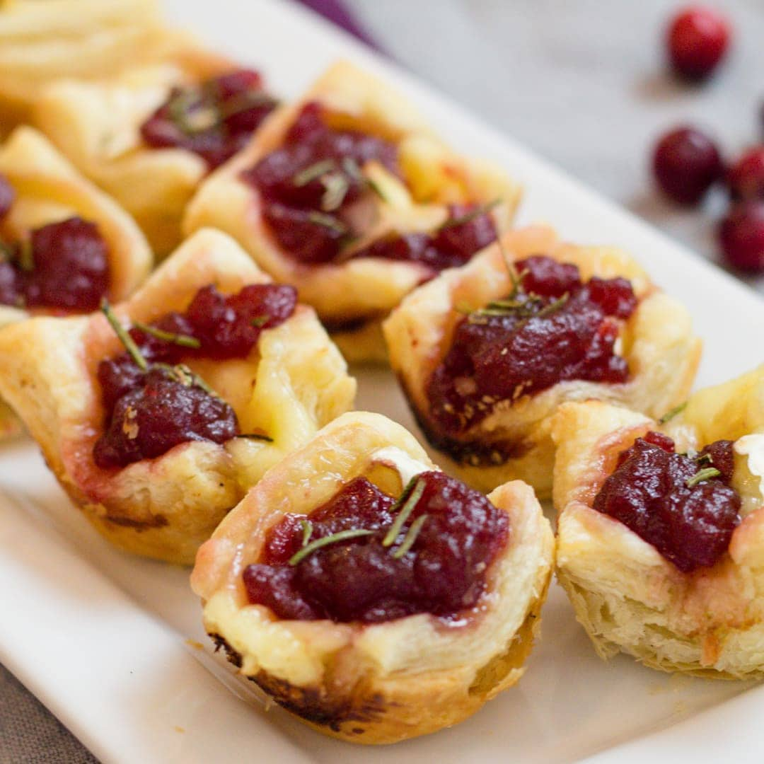 Cranberry Brie Bites a bite size appetizer recipe