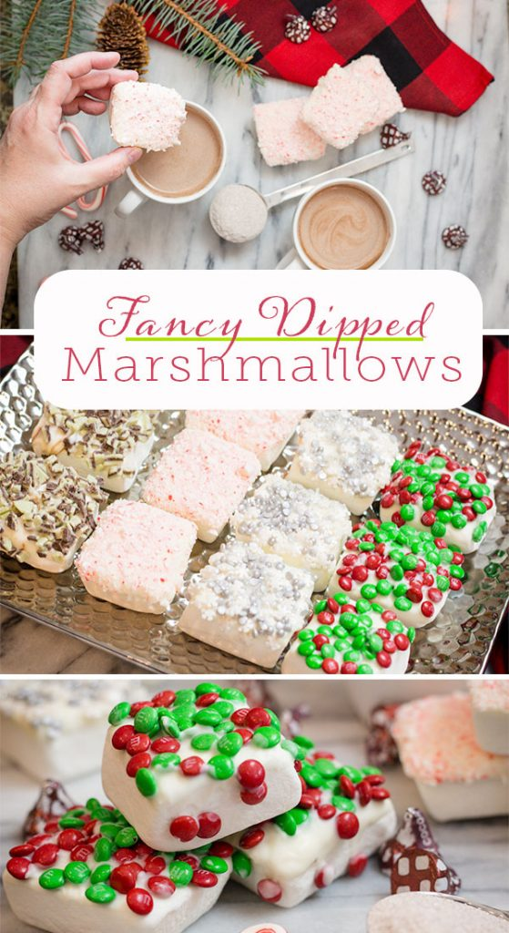 Fancy Marshmallows with Candy Canes, Andes Mints, M&M's and more
