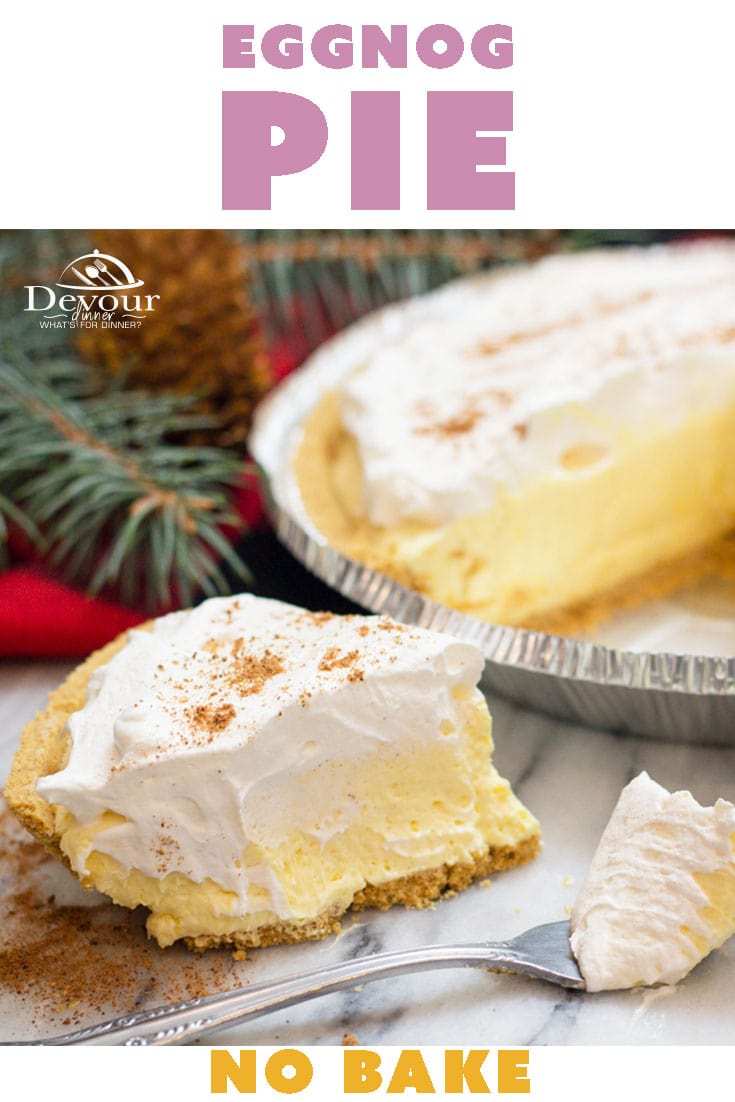 Easy to make No Bake Eggnog Pie for the Holidays. Make sure to throw one in the freezer to enjoy later! Quick and easy 4 ingredient recipe perfect for the kids to help make. Eggnog pie is creamy and delicious. Shared by thousands and loved by even more. #eggnog #eggnogPie #holidayeggnog #4ingredientrecipe #nobake #nobakepie #pieday #freezerpie #prepahead #pudding #puddingpie #easydessert #easyrecipe #easypierecipe #easyrecipe #recipes #recipe #inthekitchen #feedfeed #instagood #yummy