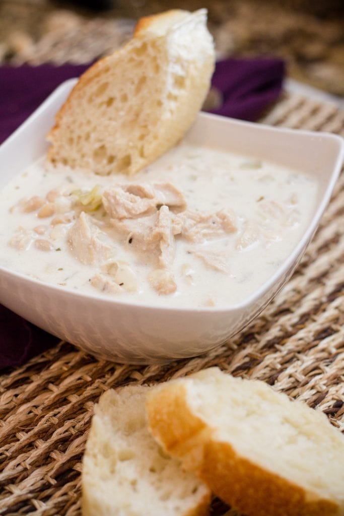 Creamy White Chicken Chili Recipe with white beans