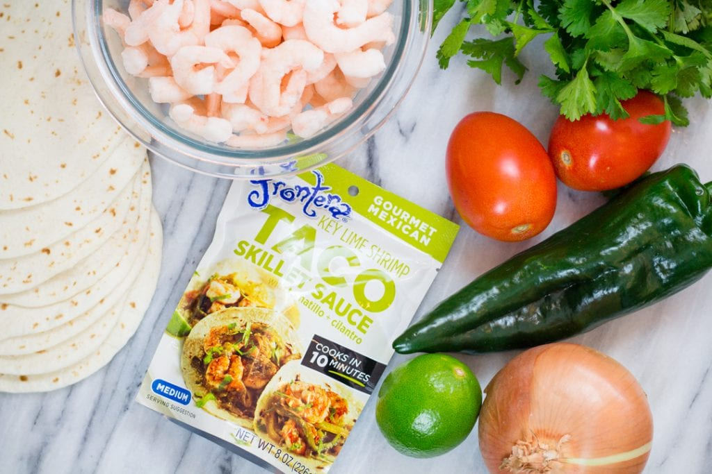 Cilantro Lime Shrimp Taco Ingredients