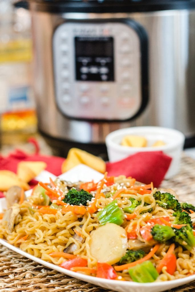 Ramen Pad Thai Recipe for the Instant Pot with Vegetables