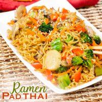 Ramen Pad Thai Noodles with Vegetables