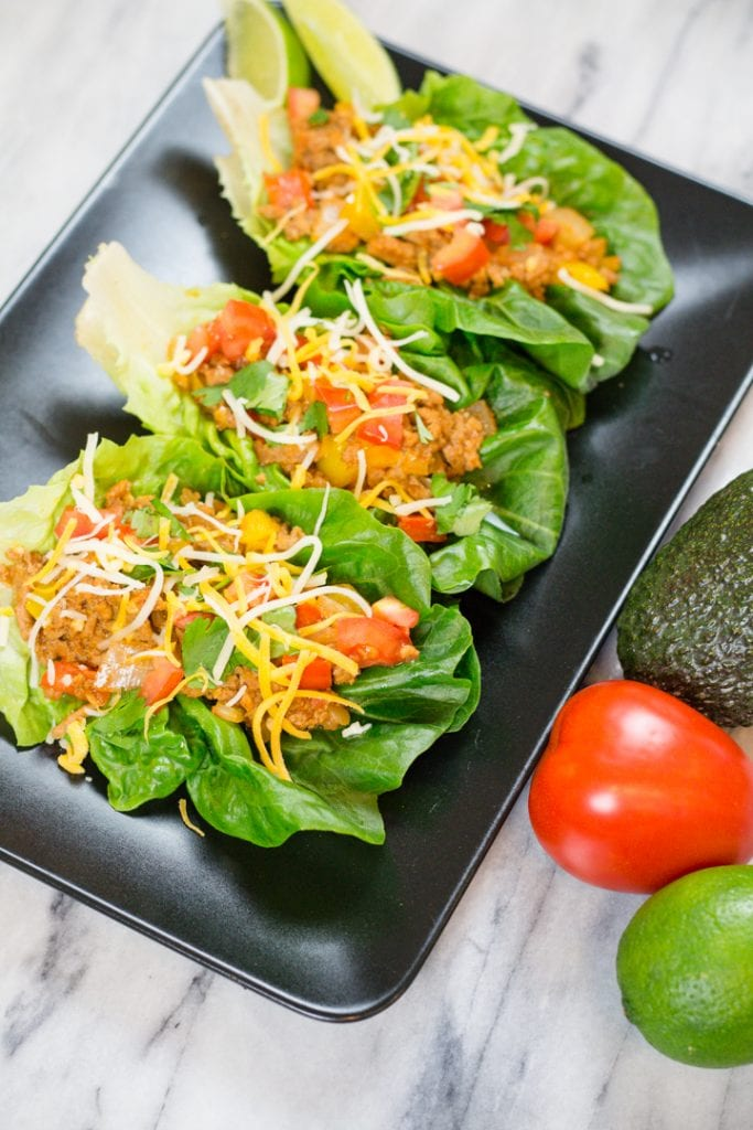 Ground Turkey Tacos Lettuce Wrap