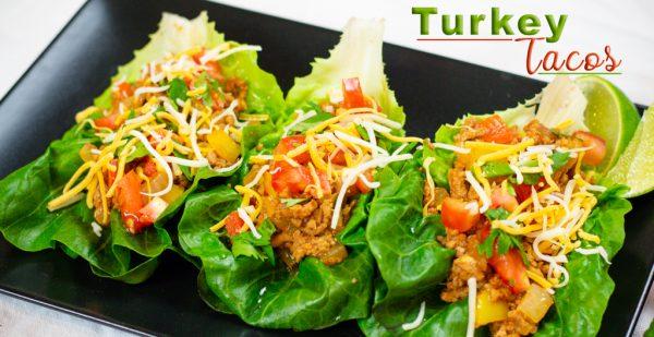 Ground Turkey Taco Lettuce Wrap