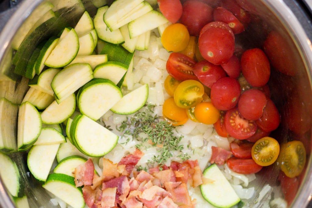 Vegetables sautéed in Instant Pot