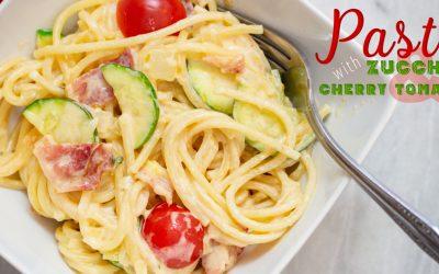 Pasta with Zucchini and Cherry Tomatoes
