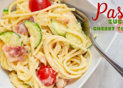 Pasta with Zucchini and Cherry Tomatoes