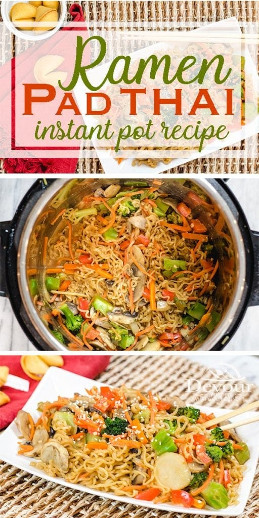 Pad Thai Ramen Noodles with Vegetables