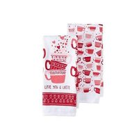 Celebrate Valentine's Day Together I Love You A Latte 2-pc. Kitchen Towel Set