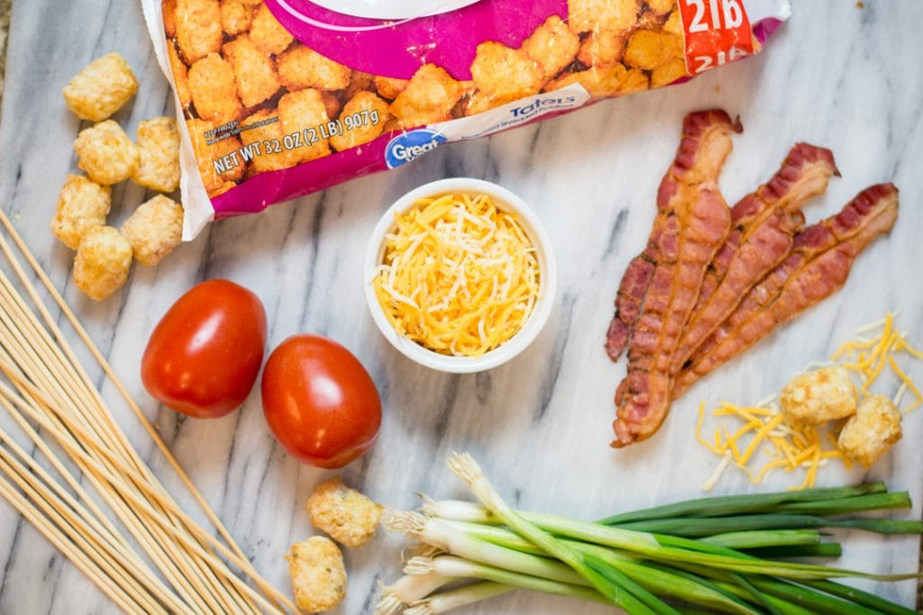 Tater Tot Kabobs Ingredients