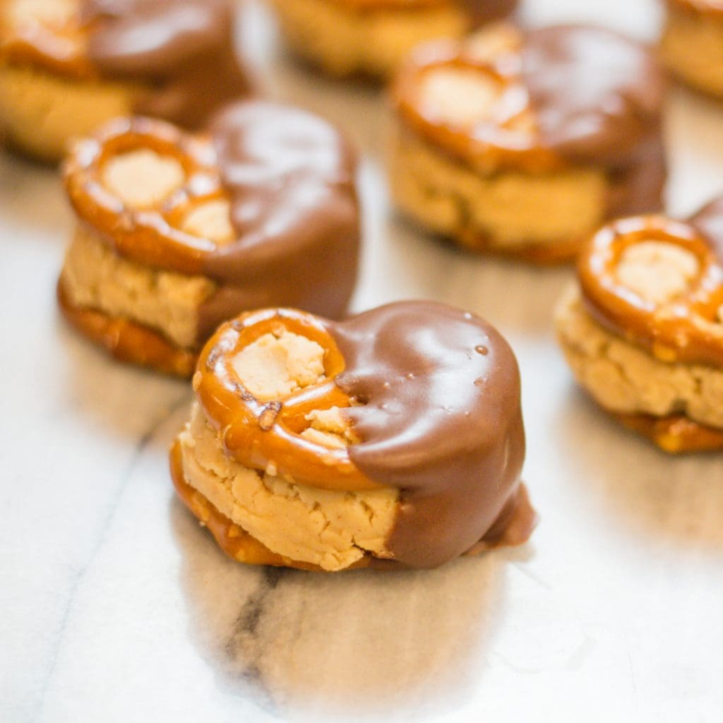 Easy Buckeye Recipe with Peanut Butter and Pretzels