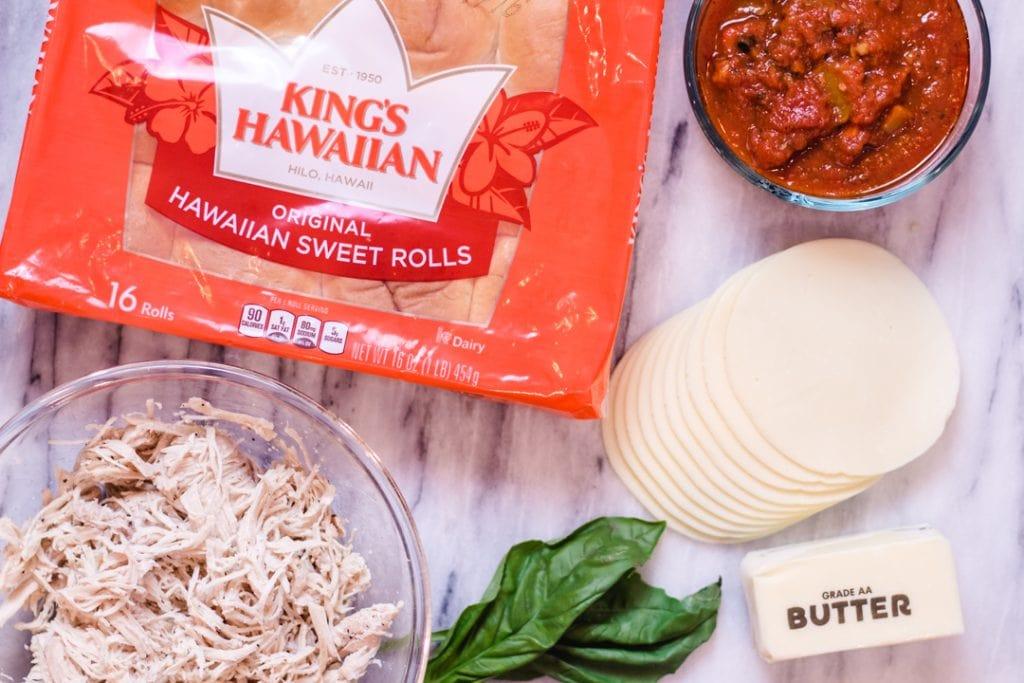 Chicken Parmesan Sliders Ingredients