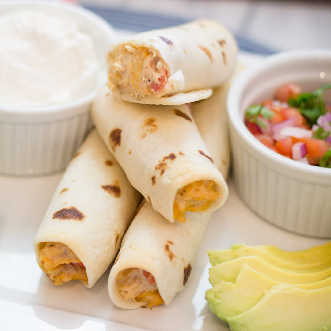 Easy Homemade Chicken Taquitos
