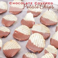 Chocolate Covered Potato Chips on baking sheet
