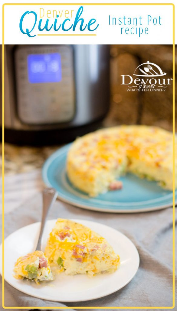 Denver Quiche Keto Friendly Recipe Easy Breakfast Recipe Instant Pot Pressure Cooker