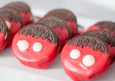 Disney Inspired Mickey Mouse Candy Dipped Oreos