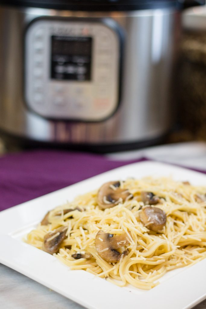 Mushroom Garlic Noodles in Instant Pot
