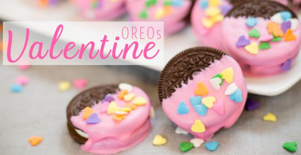 Valentine's Day Candy Dipped OREOs